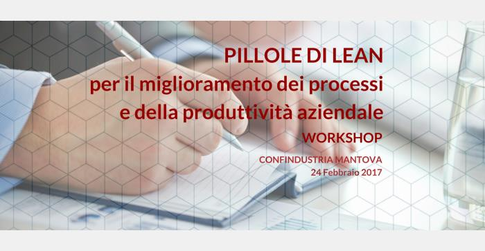Workshop: Pillole di Lean